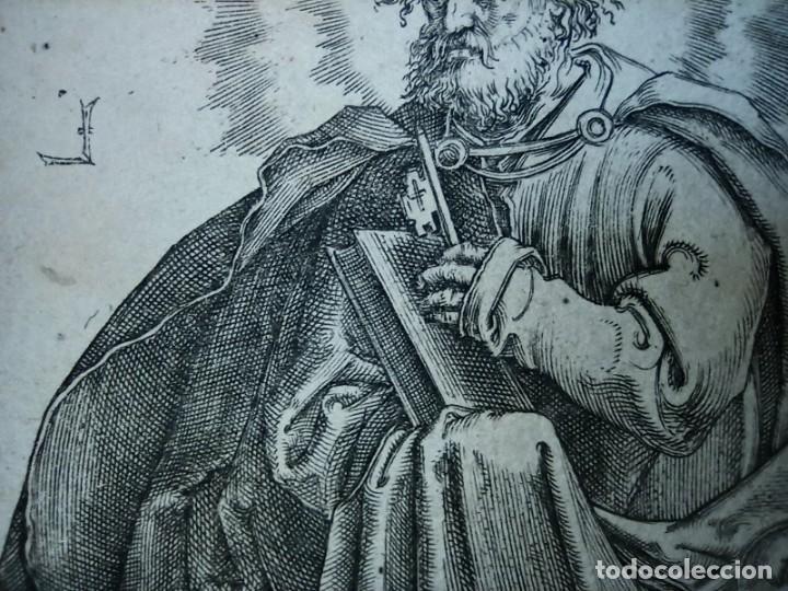 Arte: MARAVILLOSO Y RARÍSIMO GRABADO APÓSTOL PEDRO, ORIGINAL 1610.JAN MULLER. SEGUIDOR VAN LEYDEN - Foto 10 - 264492384