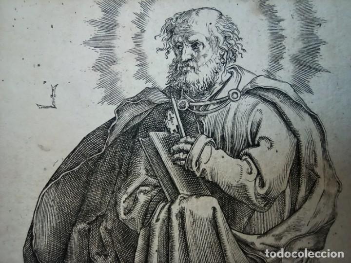 Arte: MARAVILLOSO Y RARÍSIMO GRABADO APÓSTOL PEDRO, ORIGINAL 1610.JAN MULLER. SEGUIDOR VAN LEYDEN - Foto 11 - 264492384