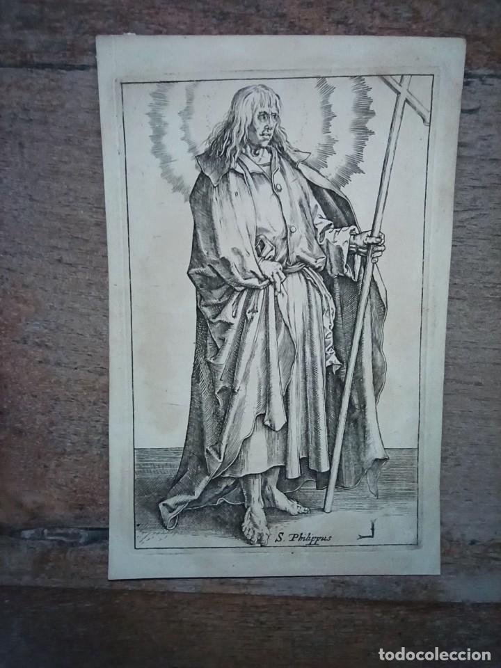 MARAVILLOSO Y RARÍSIMO GRABADO APÓSTOL FELIPE, ORIGINAL 1610.JAN MULLER. SEGUIDOR VAN LEYDEN (Arte - Grabados - Antiguos hasta el siglo XVIII)