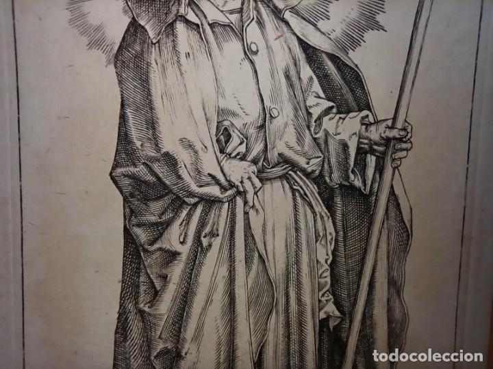Arte: MARAVILLOSO Y RARÍSIMO GRABADO APÓSTOL FELIPE, ORIGINAL 1610.JAN MULLER. SEGUIDOR VAN LEYDEN - Foto 5 - 264492849