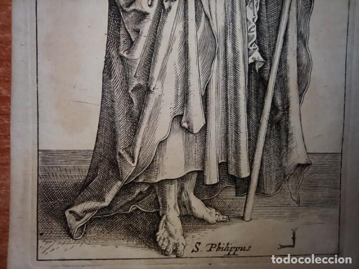 Arte: MARAVILLOSO Y RARÍSIMO GRABADO APÓSTOL FELIPE, ORIGINAL 1610.JAN MULLER. SEGUIDOR VAN LEYDEN - Foto 6 - 264492849
