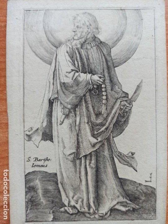 MARAVILLOSO Y RARÍSIMO GRABADO APÓSTOL BARTOLOMÉ, ORIGINAL 1610.JAN MULLER. SEGUIDOR VAN LEYDEN (Arte - Grabados - Antiguos hasta el siglo XVIII)