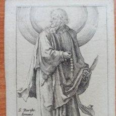 Arte: MARAVILLOSO Y RARÍSIMO GRABADO APÓSTOL BARTOLOMÉ, ORIGINAL 1610.JAN MULLER. SEGUIDOR VAN LEYDEN. Lote 264493089