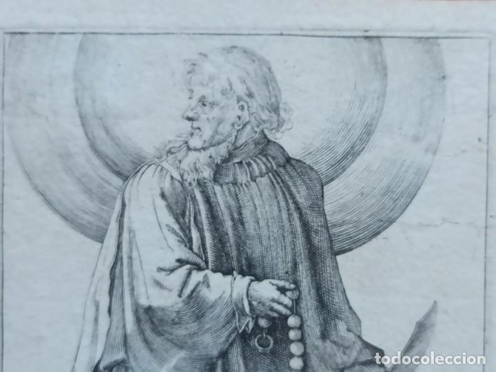 Arte: MARAVILLOSO Y RARÍSIMO GRABADO APÓSTOL BARTOLOMÉ, ORIGINAL 1610.JAN MULLER. SEGUIDOR VAN LEYDEN - Foto 2 - 264493089