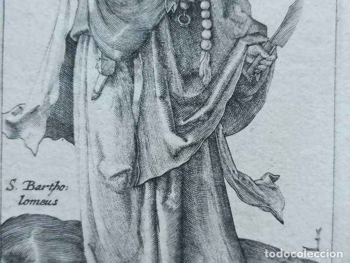 Arte: MARAVILLOSO Y RARÍSIMO GRABADO APÓSTOL BARTOLOMÉ, ORIGINAL 1610.JAN MULLER. SEGUIDOR VAN LEYDEN - Foto 4 - 264493089