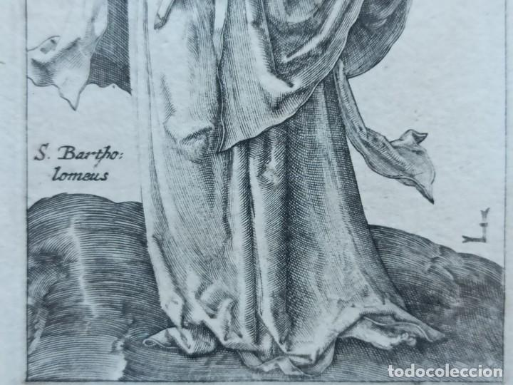 Arte: MARAVILLOSO Y RARÍSIMO GRABADO APÓSTOL BARTOLOMÉ, ORIGINAL 1610.JAN MULLER. SEGUIDOR VAN LEYDEN - Foto 5 - 264493089