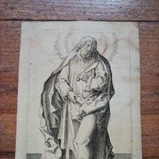 Arte: MARAVILLOSO Y RARÍSIMO GRABADO APÓSTOL MATÍAS, ORIGINAL 1610. JAN MULLER. SEGUIDOR VAN LEYDEN. Lote 264493344