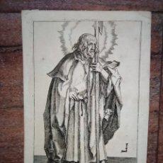 Arte: MARAVILLOSO Y RARÍSIMO GRABADO APÓSTOL JUDAS TADEO, ORIGINAL 1610.JAN MULLER. SEGUIDOR VAN LEYDEN. Lote 264493549