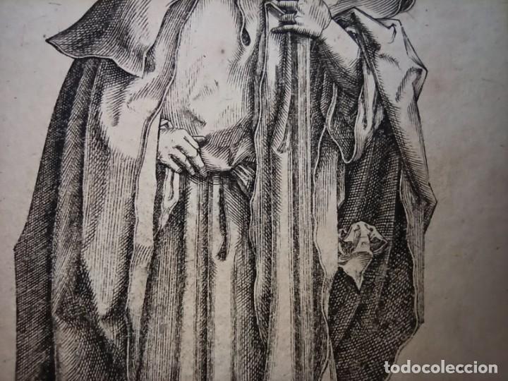 Arte: MARAVILLOSO Y RARÍSIMO GRABADO APÓSTOL JUDAS TADEO, ORIGINAL 1610.JAN MULLER. SEGUIDOR VAN LEYDEN - Foto 5 - 264493549