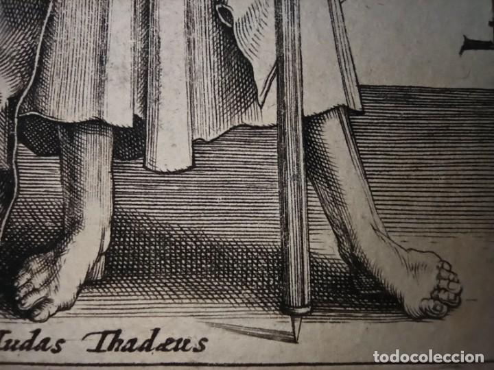 Arte: MARAVILLOSO Y RARÍSIMO GRABADO APÓSTOL JUDAS TADEO, ORIGINAL 1610.JAN MULLER. SEGUIDOR VAN LEYDEN - Foto 9 - 264493549