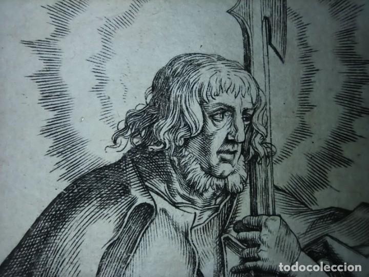 Arte: MARAVILLOSO Y RARÍSIMO GRABADO APÓSTOL JUDAS TADEO, ORIGINAL 1610.JAN MULLER. SEGUIDOR VAN LEYDEN - Foto 11 - 264493549