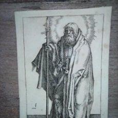 Arte: MARAVILLOSO Y RARÍSIMO GRABADO APÓSTOL TOMÁS, ORIGINAL 1610.JAN MULLER. SEGUIDOR VAN LEYDEN. Lote 264493714