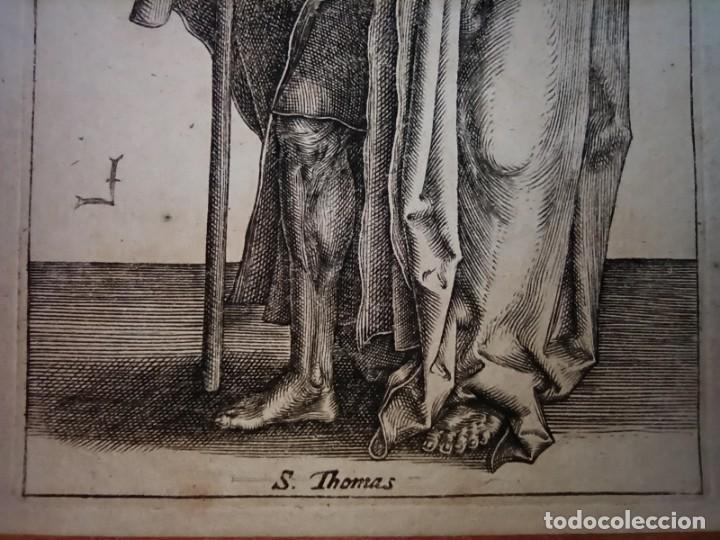Arte: MARAVILLOSO Y RARÍSIMO GRABADO APÓSTOL TOMÁS, ORIGINAL 1610.JAN MULLER. SEGUIDOR VAN LEYDEN - Foto 6 - 264493714