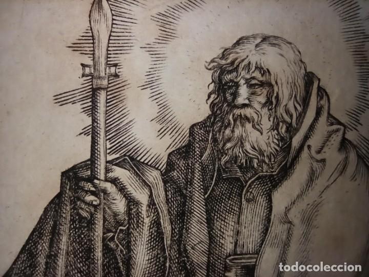 Arte: MARAVILLOSO Y RARÍSIMO GRABADO APÓSTOL TOMÁS, ORIGINAL 1610.JAN MULLER. SEGUIDOR VAN LEYDEN - Foto 8 - 264493714