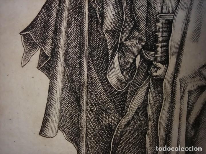 Arte: MARAVILLOSO Y RARÍSIMO GRABADO APÓSTOL TOMÁS, ORIGINAL 1610.JAN MULLER. SEGUIDOR VAN LEYDEN - Foto 9 - 264493714