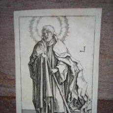 Arte: MARAVILLOSO Y RARÍSIMO GRABADO APÓSTOL SANTIAGO EL MENOR, ORIGINAL 1610. MULLER. SEGUIDOR VAN LEYDEN. Lote 264493854