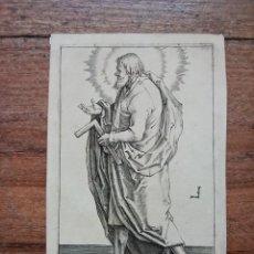Arte: MARAVILLOSO Y RARÍSIMO GRABADO APÓSTOL MATEO. ORIGINAL 1610. JAN MULLER. SEGUIDOR VAN LEYDEN. Lote 264493984