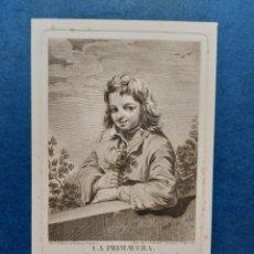 """Arte: S. CARMONA"""" LA PRIMAVERA """"GRABADO 1764. Lote 264533159"""