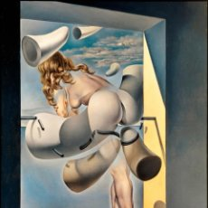 Arte: IMPRESIONANTE GRABADO DE DALI, JOVEN VIRGEN AUTOSODOMIZADA ,FIRMADO Y NUMERADO , 50 X 65 CM. Lote 42588120