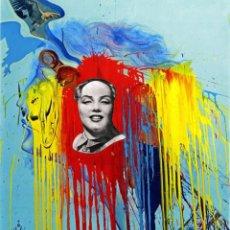 Arte: IMPRESIONANTE GRABADO DE DALI, AUTORRETRATO DE 1972 ,FIRMADO Y NUMERADO , 50 X 65 CM. Lote 42587968