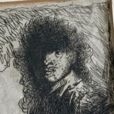 Arte: GRABADO DEL ARTISTA HOLANDÉS REMBRANDT VAN RIJN - AUTORRETRATO -. Lote 265345159