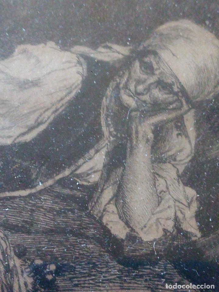 ~~~~ ANTIGUO GRABADO LA BOHEMIENNE, FIRMADO FERDINAND ROYBET 1840 - 1920, MIDE 32 X 25 CM. ~~~~ (Arte - Grabados - Modernos siglo XIX)