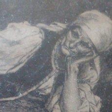 Arte: ~~~~ ANTIGUO GRABADO LA BOHEMIENNE, FIRMADO FERDINAND ROYBET 1840 - 1920, MIDE 32 X 25 CM. ~~~~. Lote 265794609