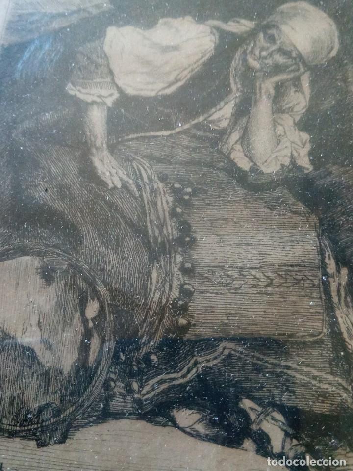 Arte: ~~~~ ANTIGUO GRABADO LA BOHEMIENNE, FIRMADO FERDINAND ROYBET 1840 - 1920, MIDE 32 X 25 CM. ~~~~ - Foto 2 - 265794609