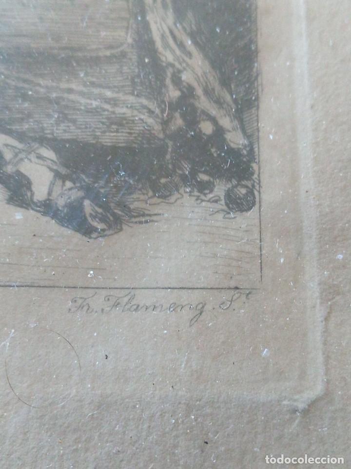 Arte: ~~~~ ANTIGUO GRABADO LA BOHEMIENNE, FIRMADO FERDINAND ROYBET 1840 - 1920, MIDE 32 X 25 CM. ~~~~ - Foto 4 - 265794609