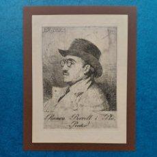 Arte: RAMON BORRELL GRABADO EX-LIBRIS 1920. Lote 265797229