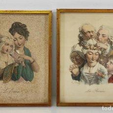 Arte: GRABADOS L. BOILLY (1761-1845) - GRABADO LA ROSIÉRE, GRABADO L´ENVIE - AÑO 1824. Lote 266048273