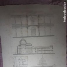 Arte: HOSPITAL DE SAN JUAN BAUTISTA, TOLEDO. GRABADO MONUMENTOS ARQUITECTÓNICOS DE ESPAÑA. Lote 266359973