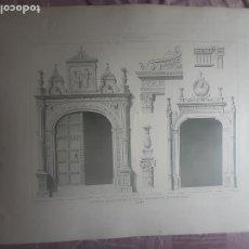 Arte: HOSPITAL DE SANTA CRUZ, TOLEDO. GRABADO MONUMENTOS ARQUITECTÓNICOS DE ESPAÑA. Lote 266360023