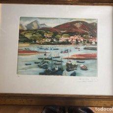Arte: GRABADO DE MENCHU GAL EDICIÓN LIMITADA NUMERADA Y FIRMADA. Lote 266645083
