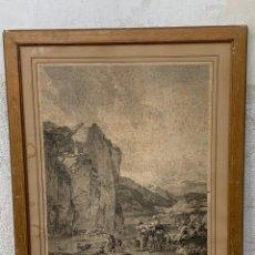 Arte: GRABADO S XVIII PAISAJE DE NICOLAS BERGHEM ALIAMET SCULP 73X58CMS. Lote 266752808