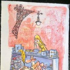 Arte: GRABADO DE KAP - JAUME CAPDEVILA I HERRERO - LIMITADO - NUMERADO - DEDICATORIA Y DIBUJO - LIBROS. Lote 266995339