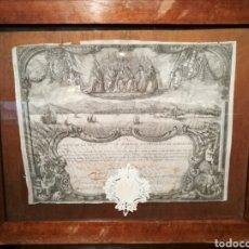 Arte: ACCIÓN DE LA REAL COMPAÑÍA DE COMERCIO DE BARCELONA. S.XVIII.. Lote 267039669