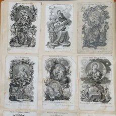 """Arte: 1750/80 CA. 34 IMPRESIONANTES GRABADOS SIMBÓLICOS Y COMPLEJOS """"LETANIAS LAURETANAS"""" HNOS. KLAUBER. Lote 267065539"""