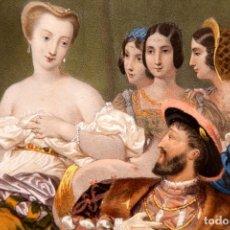 Arte: NICOLAS EUSTACHE MAURIN - GRABADO ILUMINADO AL HUEVO - FRANCIA - C. 1730. Lote 267078329