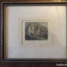 "Arte: ANTIGUO GRABADO ENCUADRADO DE E.ROBERT "" NORFOLK "" INGLATERRA . 25 X 22 CM. Lote 267121384"