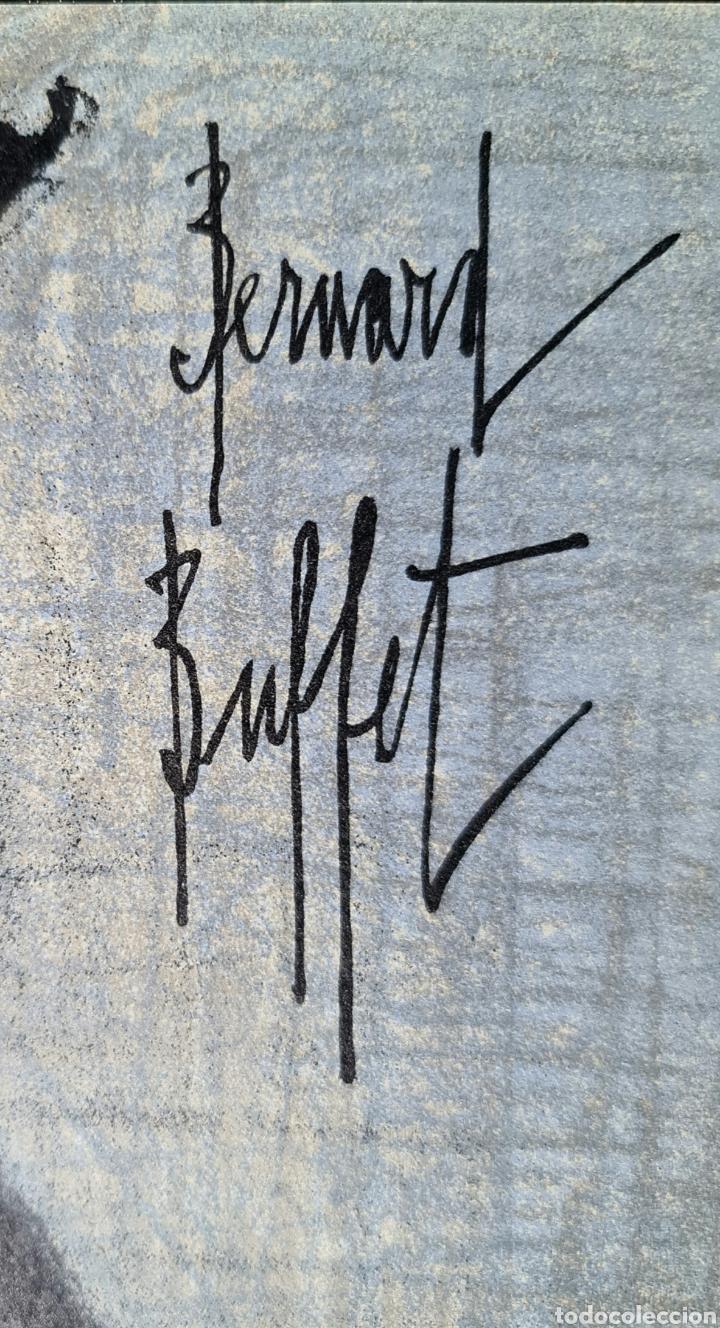 Arte: Bernard Buffet, litografia por Mourlot 1967, firmada en plancha. - Foto 6 - 267167434