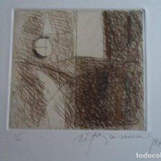 Arte: RAFOLS CASAMADA (BARCELONA, 1923-2009) LES HORES GRABADO 1986 DE 12X15 PAPEL 28X38, FIRMADO Y 10/60. Lote 236829540