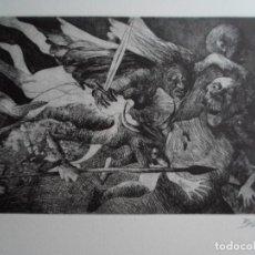 Arte: ÁNGEL BELLIDO (NOVELDA, ALICANTE, 1945) GRABADO CHISTES QUEVEDO 21X32 PAPEL 38X51 FIRMADO Y /200. Lote 267295499