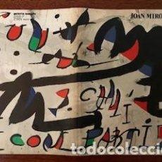 Arte: JOAN MIRÓ. UN CAMÍ COMPARTIT (MIRÓ-MAEGHT). GALERIA MAEGHT. BARCELONA. 1976. Lote 267628269