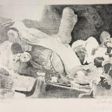 Arte: CALCOGRAFIA AGUAFUERTE. COMPOSICION. RAFAEL RUIZ BALERDI. TIRADA LIMITADA. FIRMADO POR ARTISTA. Lote 267738294