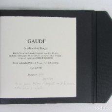 Arte: GAUDI, COLECCIÓN DE 6 AGUAFUERTES REALIZADOS EN 1989 POR MERCÉ DIOGÉNE GUILERA. Lote 268448134
