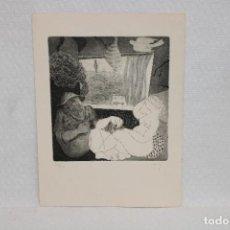 Arte: ILEGIBLE. GRABADO FIRMADO A MANO CON TIRAJE 43/50. Lote 268591719