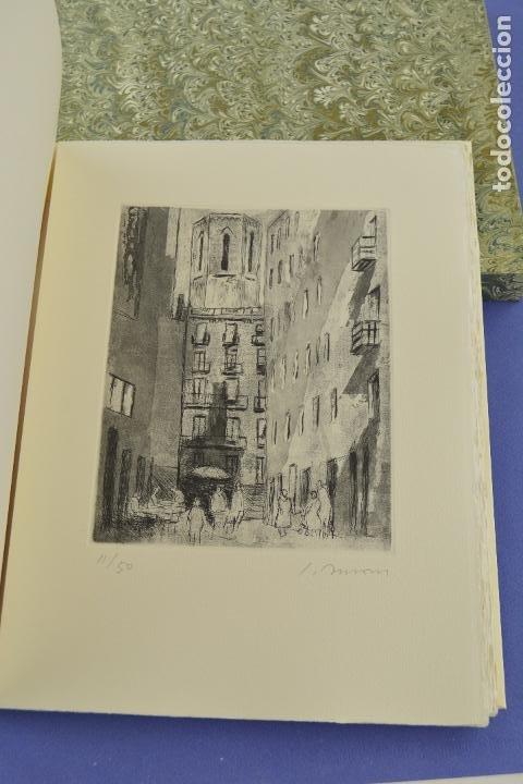 Arte: Places de Barcelona, Simó Busom, Josep Mª Cadena, 1997, grabados prueba de artista, edición limitada - Foto 3 - 268611944