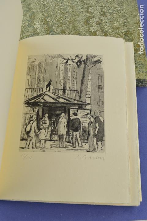 Arte: Places de Barcelona, Simó Busom, Josep Mª Cadena, 1997, grabados prueba de artista, edición limitada - Foto 4 - 268611944