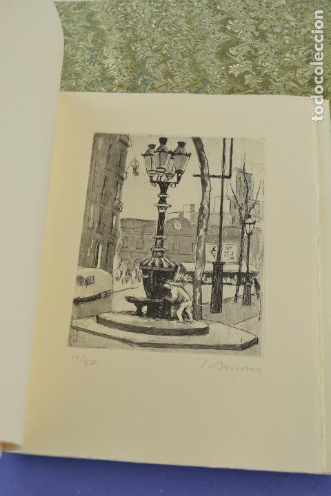 Arte: Places de Barcelona, Simó Busom, Josep Mª Cadena, 1997, grabados prueba de artista, edición limitada - Foto 7 - 268611944